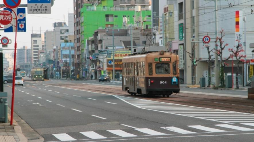 広島電鉄:当館より最寄りの広島電鉄「横川駅」まで徒歩2分!駅チカで食事・アクセスにも便利!