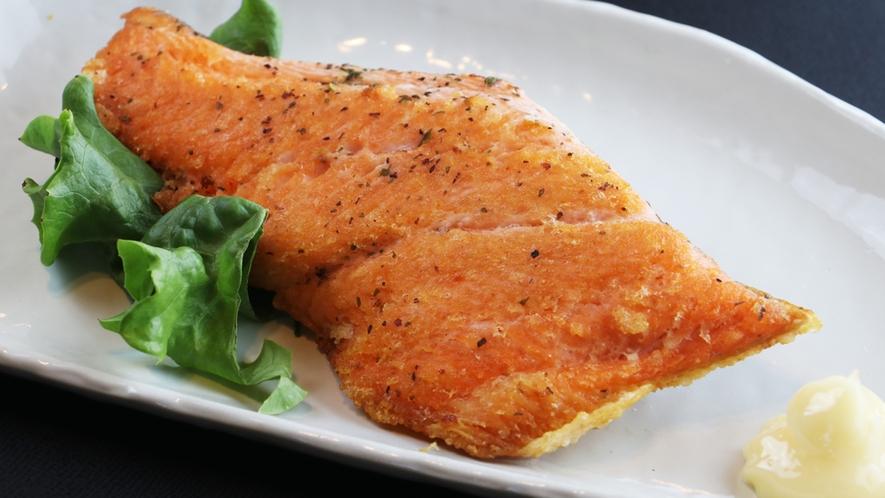 夕食一例/旬の魚のムニエル