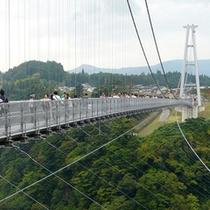 """【九重""""夢""""の大吊橋】歩道専用として『日本一の高さ』を誇る吊橋です。"""