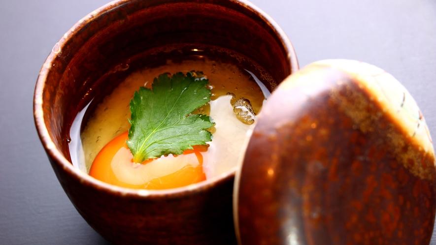 【夕食】絶品山芋の茶碗蒸し
