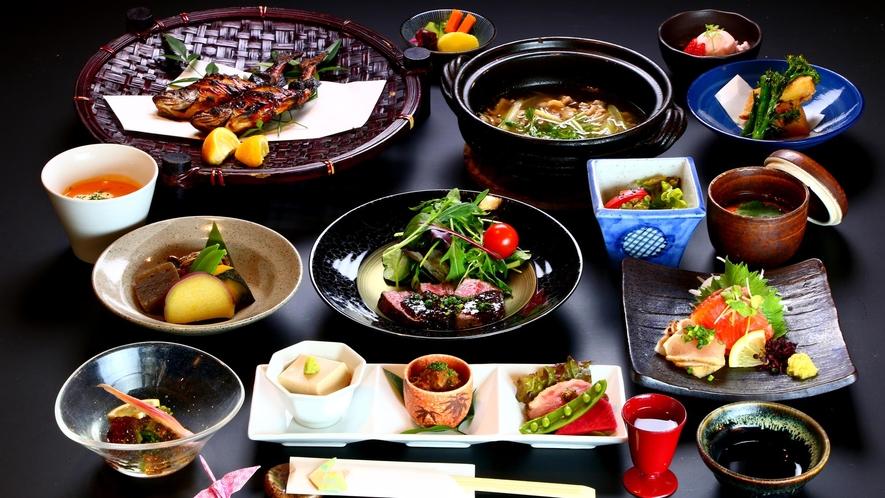 【花衣会席】名物山里料理を存分にご堪能ください!