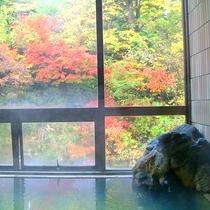 *【お風呂】四季を通じて眺望を楽しめます。