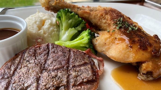 【お部屋は2階☆夕朝食付】がっつり、お食事を楽しみたい方へ!夕食は洋食セットメニューをご堪能☆
