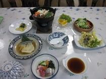 晩ご飯 信州産豚鍋と茸天ぷら