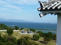 富岡城から見える景色【当ホテルよりお車で約3分】