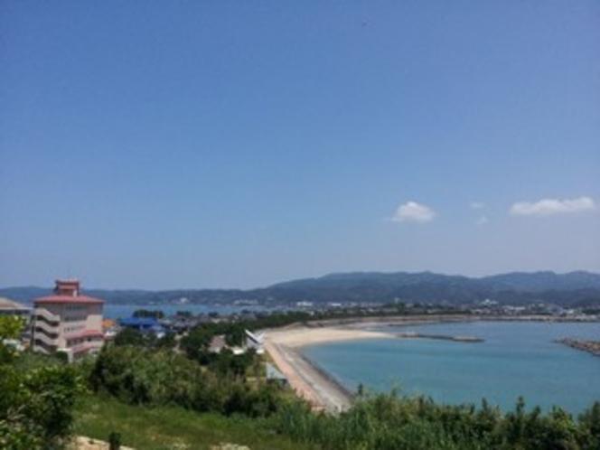 富岡海水浴場に隣接した宿
