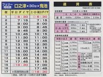 口之津港⇔鬼池港(30分) 島鉄フェリー時刻表