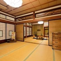 *【10畳+10畳/客室一例】なんと2名様からご利用可能!のびのび寛げる贅沢なお部屋です。