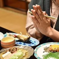 *【夕食】趣ある奥座敷のお食事処で、当苑でしか味わえない旬の味をご堪能ください。