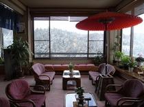 冬の景色展望ロビー