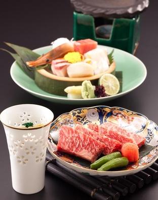 【露天風呂付客室 京近江】夕食グレードアッププラン 夕食:近江牛石焼ステーキ付会席