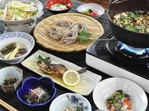 【ご夕食】風味豊かな奈川名物とうじそば