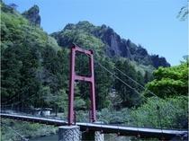 立久恵峡の吊り橋