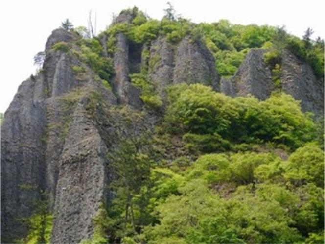 緑と奇岩、柱石