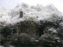 立久恵峡の雪景色