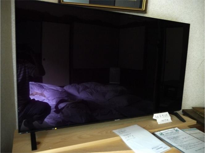4Kテレビの大画面で備え付きのDVDデッキで映画などお楽しみ下さい!