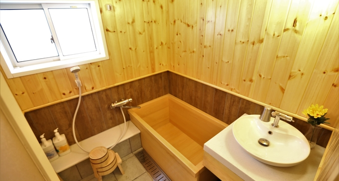 【ビラ檜プレミアム/6名まで】檜風呂で湯ったり♪◆FREE WI-FI完備◆