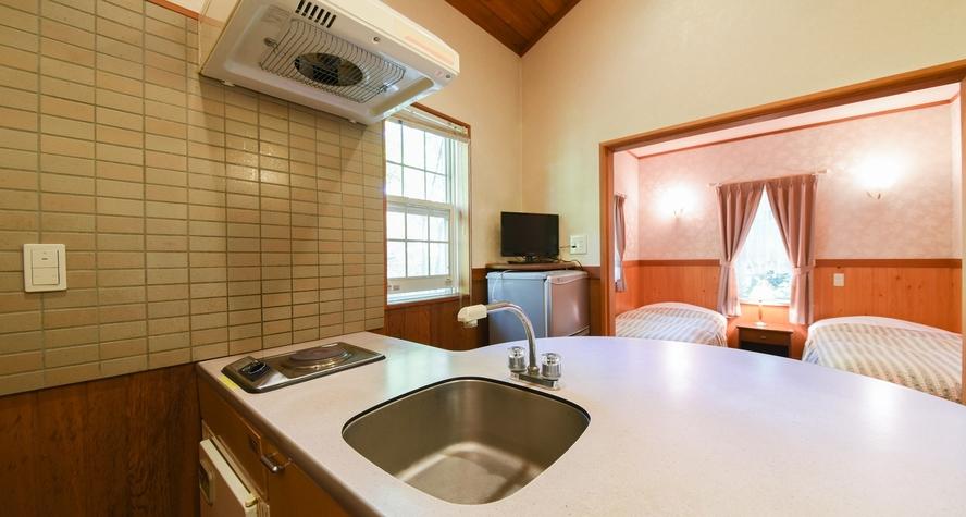 *【スイートタイプ・コテージ1】LDK7.5畳 キッチン