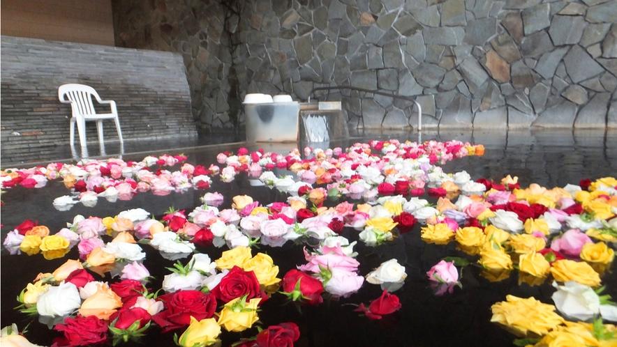 イベント風呂(バラ湯)