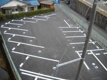 駐車場写真(ホテル屋上より撮影)