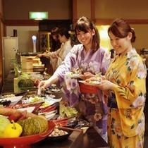 夕食ビュッフェ(女子旅)