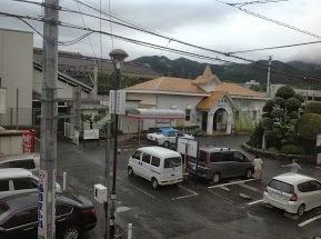 2階の窓から見た篠栗駅