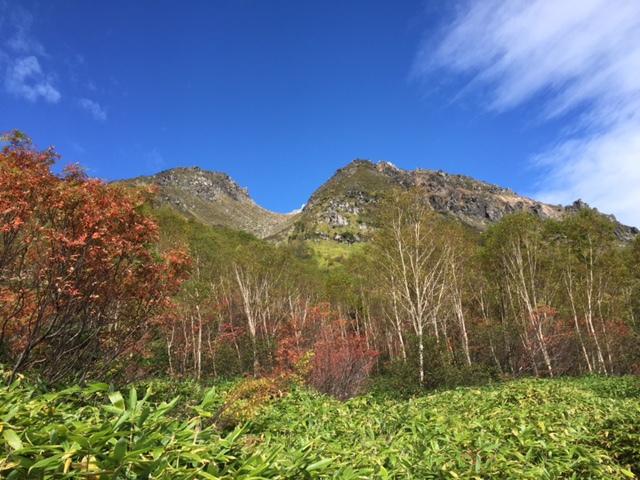 焼岳の紅葉
