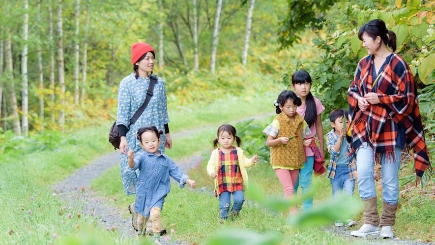 *フットパス散策/緑の道をみんなでお散歩!森林浴を味わえます。