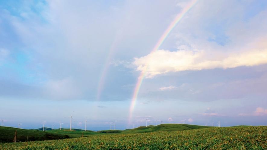 *周辺景色/こんな虹を見れたらきっと良いことがあるはず。
