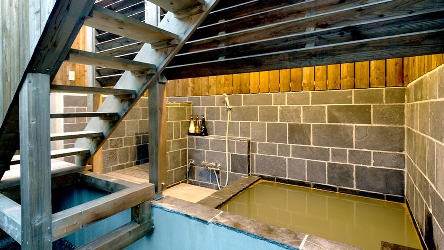 *Ctypeのお部屋に併設されている貸切露天風呂。Ctype以外のお客様も有料にてご利用可能。