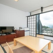 和洋室ダブル25平米(富士山側)