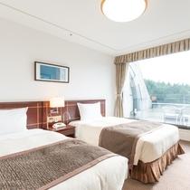 洋室スーペリアツインルーム25平米(富士山側)