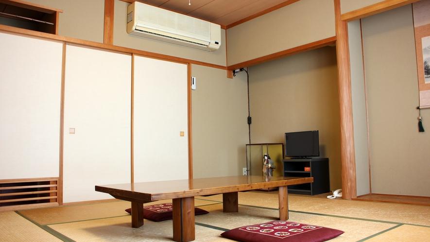 *【和室8畳】やさしく暖かい雰囲気の純和室♪ファミリーやお友達との観光などにご利用ください。