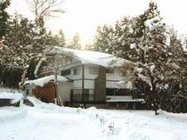 スノーリゾート黒姫高原に建つ冬のことりの樹