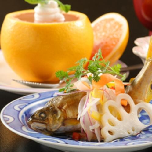 温泉会席(栗駒)イメージ料理 ※季節により異なります。