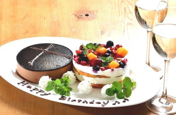 ◆2食&特典付◆〜大切な記念日に素敵な時間を〜『ホールケーキ&ワンドリンク付』鉄板焼を♪【完全禁煙】