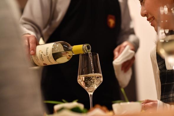 ◆2食&特典付◆お酒好きお得!夕食時飲放題(ソムリエ厳選山梨ワイン6種も)≪ネット限定≫【完全禁煙】