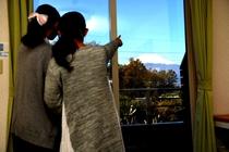 客室より 富士山