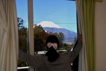客室より富士山