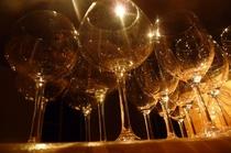 ワインに適したグラスでお楽しみいただけます