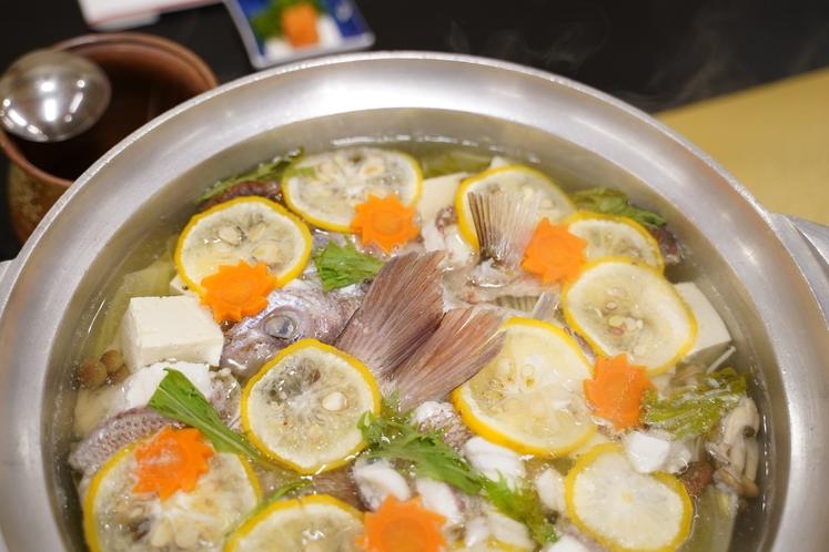 真鯛の柚子ちり鍋