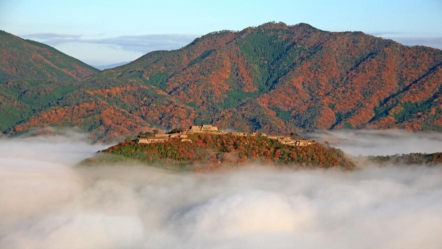 紅葉の竹田城跡