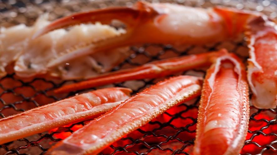 香ばしい香り漂う「焼き蟹」イメージ