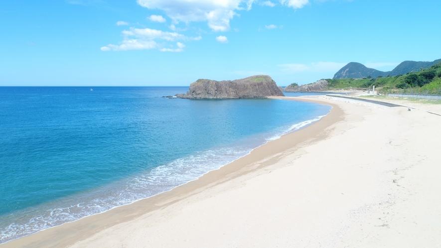 立岩・後ヶ浜(たていわ・のちがはま)海水浴場