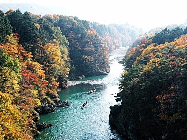 鬼怒川渓谷の紅葉