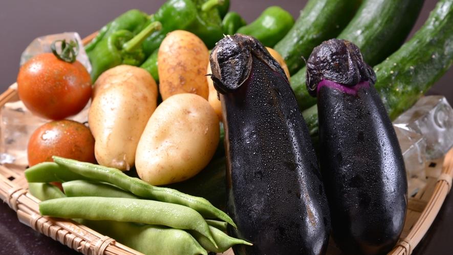 *自家製野菜/丹精込めて作られたお野菜は新鮮なうちに調理。野菜そのものの旨みが凝縮されています。