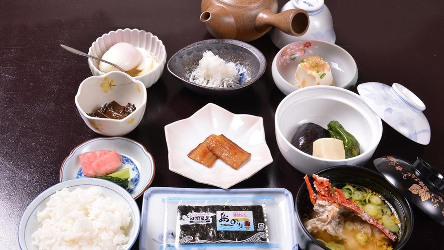 *ご朝食一例/栄養たっぷり!日間賀島産の食材にこだわった旅館の朝ごはん。