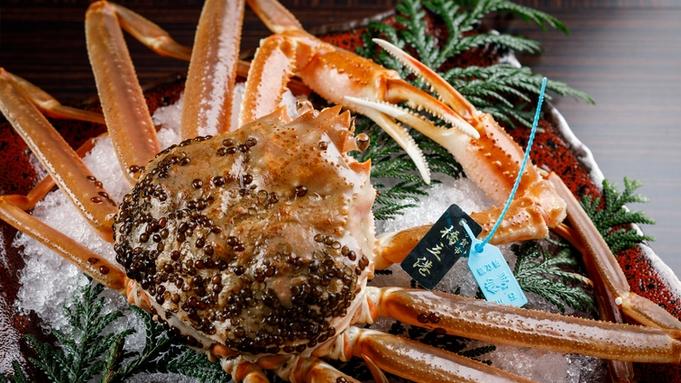 【タグ付き活蟹】加賀の至宝「橋立蟹」一杯付・月替わり会席で加賀の味覚を贅沢に味わう
