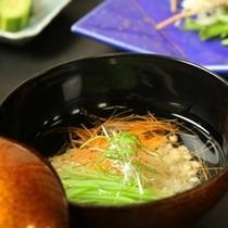 ☆料理_夕食_沢煮椀風 そばの実