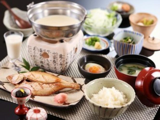 体にやさしい日本の朝食です。